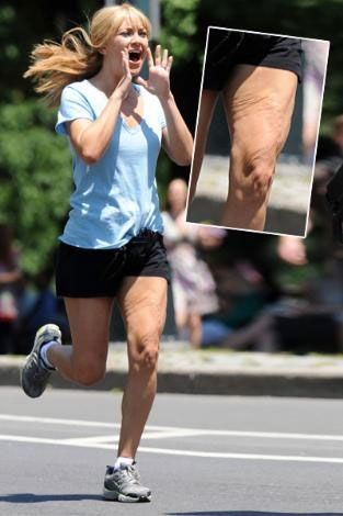 Yaşı henüz 30'a bile varmayan genç aktrist Kate Hudson, geçtiğmiz gün Los Angelas sokaklarında jogging yaparken işte böyle yakalndı.